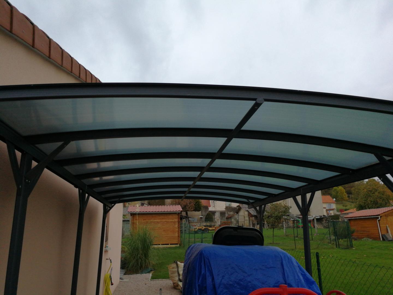 carport en alu anthracite 3x4 3m toit polycarbonate 6mm x metal. Black Bedroom Furniture Sets. Home Design Ideas