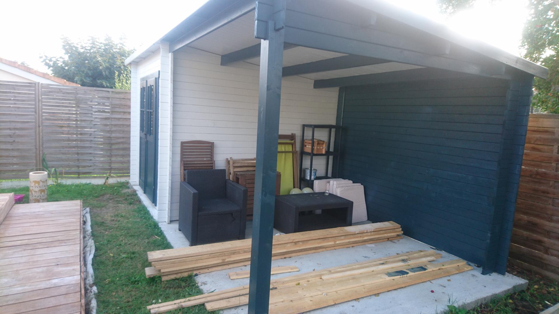 Gartenhaus 9m² PLUS + überdachte Terrasse 9m² Gardy Shelter