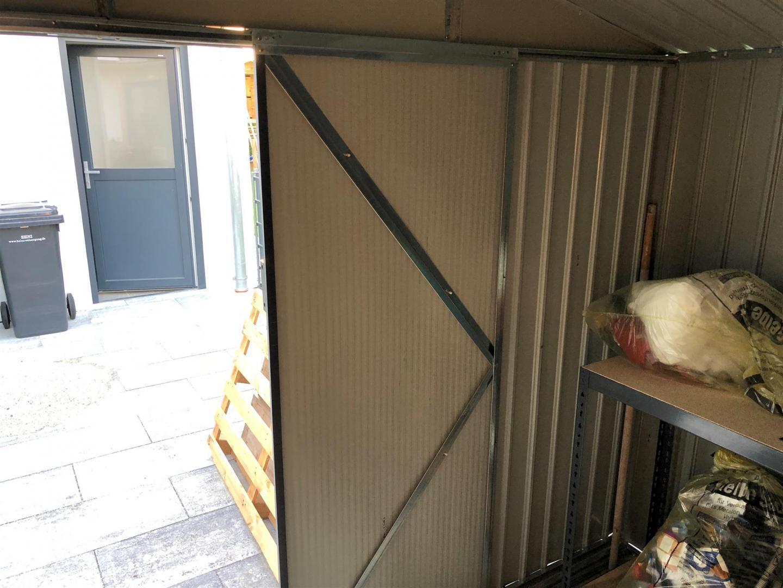gartenhaus aus metall 13m² plus anthrazit + verankerungskit x-metal