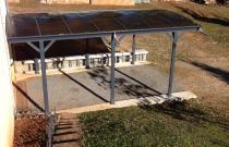 Carport en alu anthracite 3x5,05m + Toit polycarbonate 6mm X-METAL